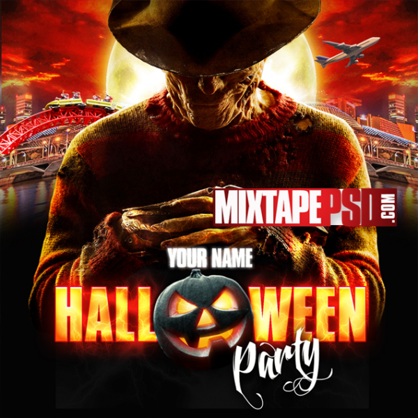 Free Mixtape Template Halloween Party