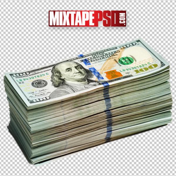 Money, Stack of Hundred Dollar Bills PNG