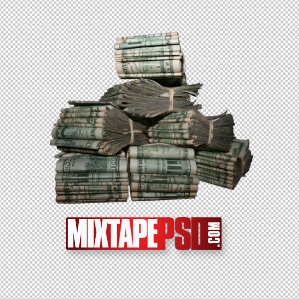 Old Stack of Money PNG Image