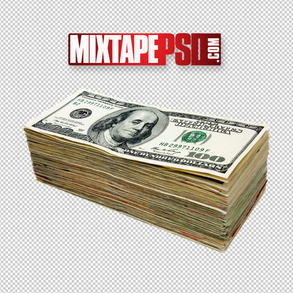 Old Stack of Money 5 PNG Image