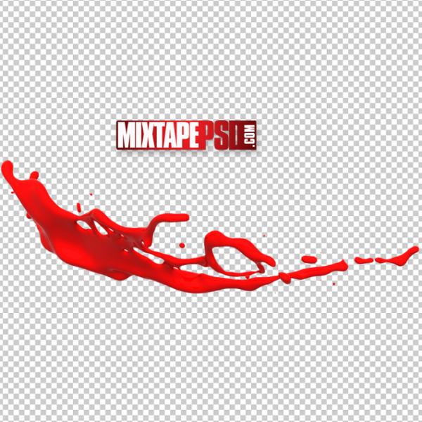 Red Paint Splash PNG