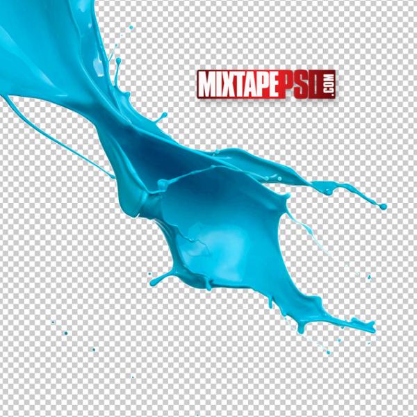 Blue Paint Splash PNG