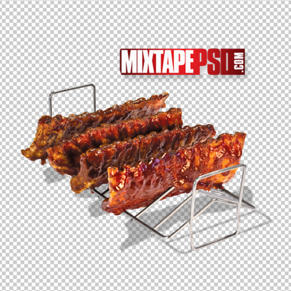 Rack of Barbecue Ribs PNG