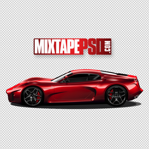 Red Corvette PNG Image