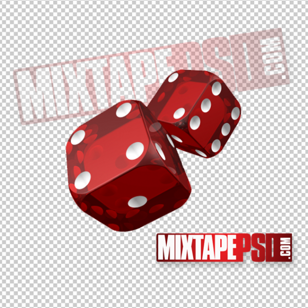 Rolling Red Dice PNG