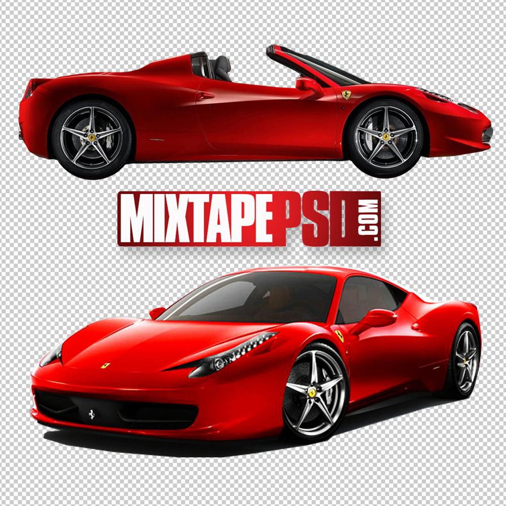 Red Ferrari Sports Cars