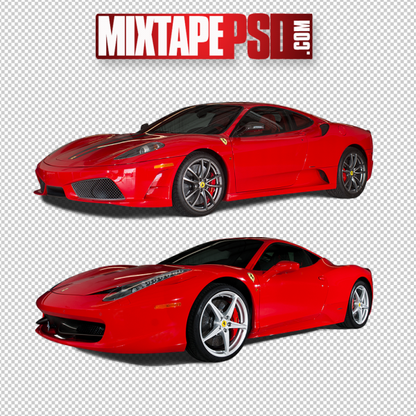 Red Ferraris PNG Image