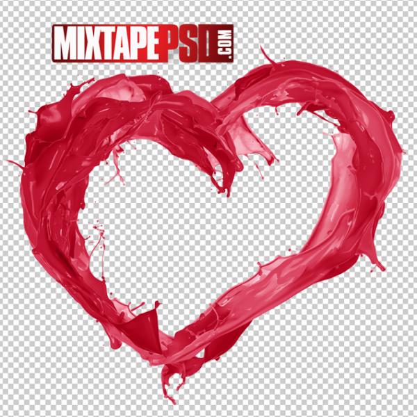 Red Valentine Heart Splash