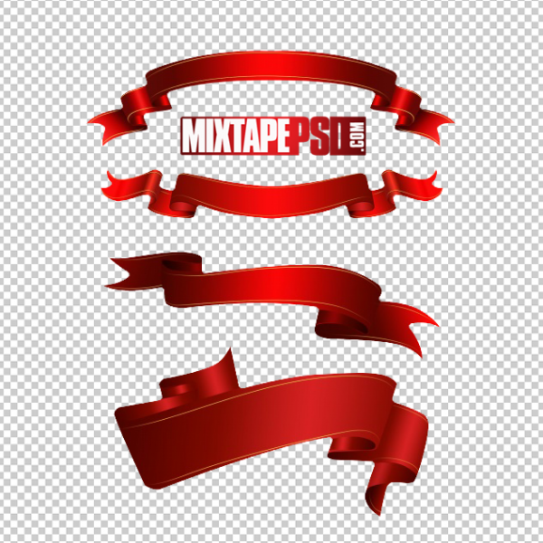 Red Ribbons PNG