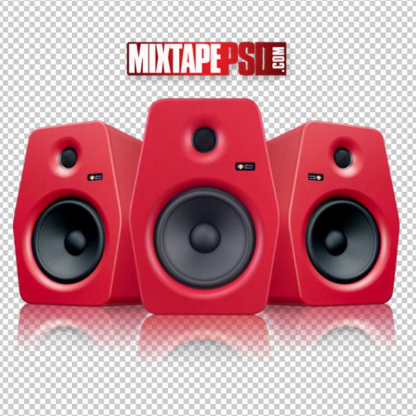 Red Studio Speakers Template