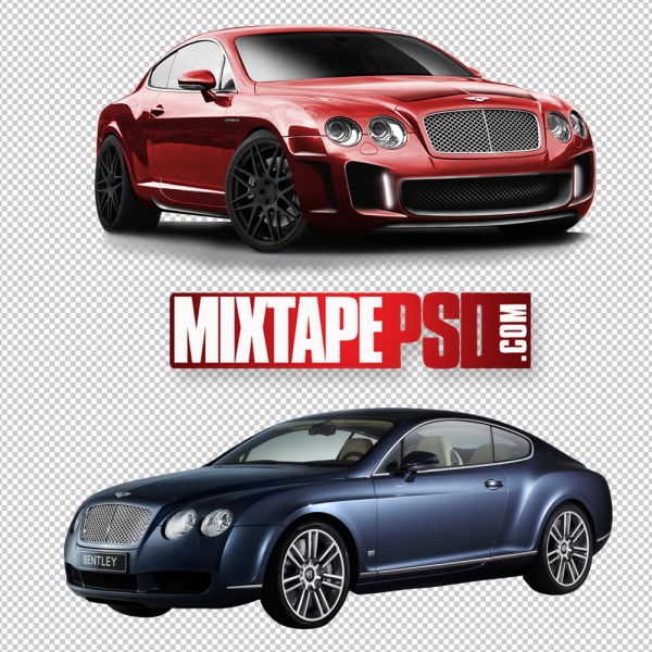 Red and Blue Bentley PNG Image