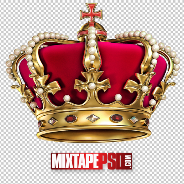 Red Gold Crown PNG