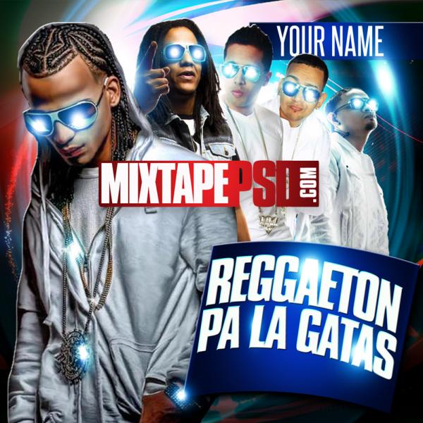 Free Reggaeton Pa La Gatas Mixtape Template