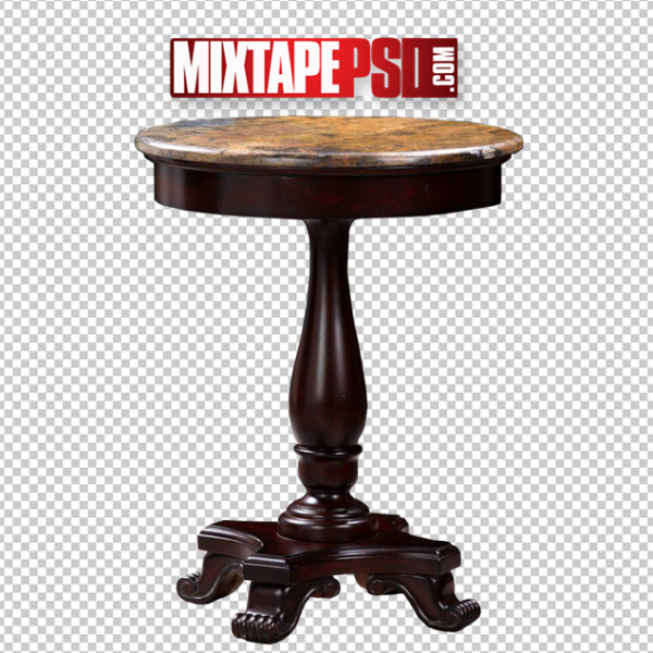 Brown Round Table Template