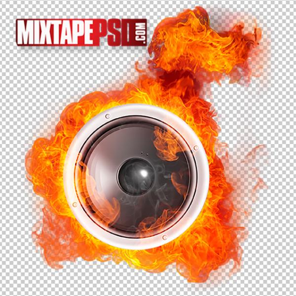 Speaker in Flames Template