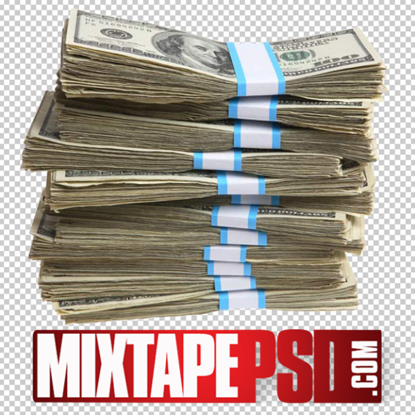 Old Stack of Money 6 PNG Image