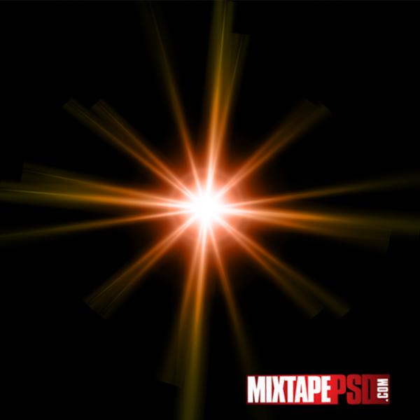 Orange Optical Sun Flare