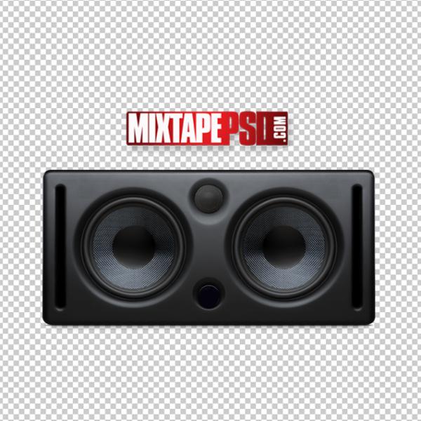 Black Studio Speakers Template 3