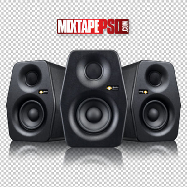 Black Studio Speakers Template