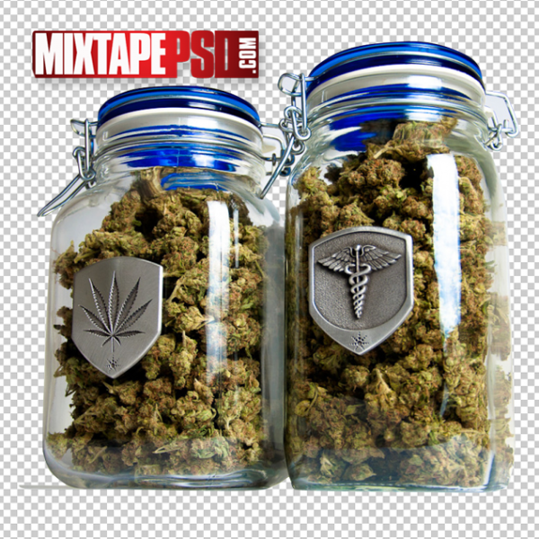 Drugs, Marijuana Buds Jar