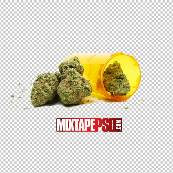 Weed and Pill Bottle PNG