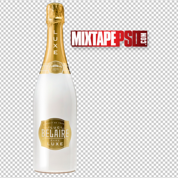 White and Gold Belaire Luxe Bottle PNG