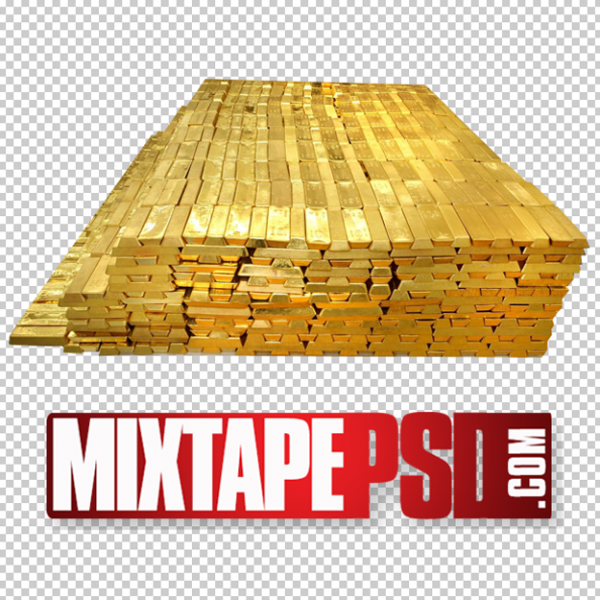 Stacked Gold Bars PNG 3