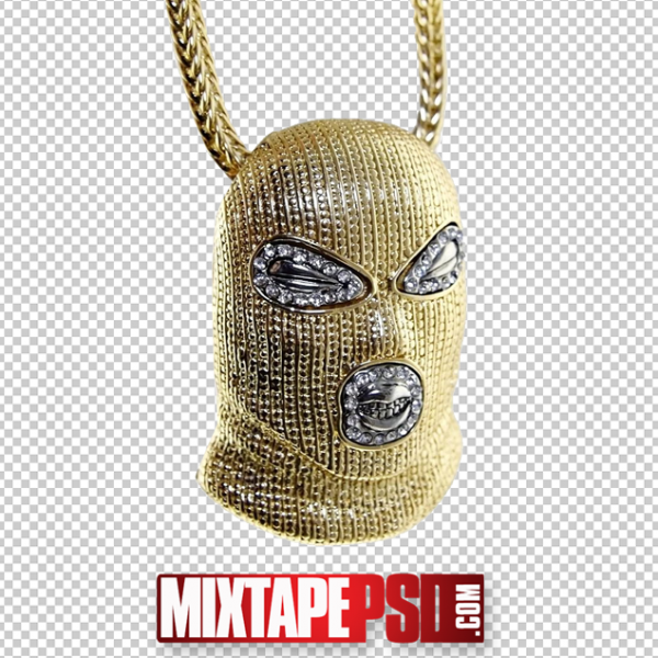 Gold Goon Face Chain PNG