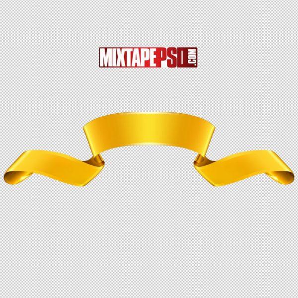 HD Gold Ribbon Banner