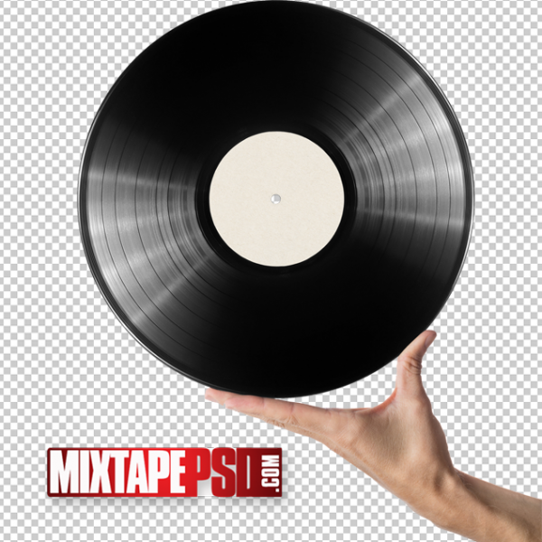 Free Hand Holding Record Cut PNG