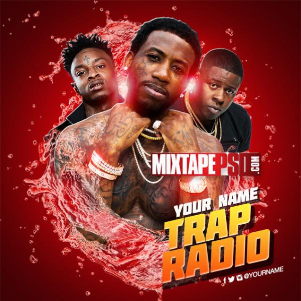 Mixtape Cover Template Trap Radio 5