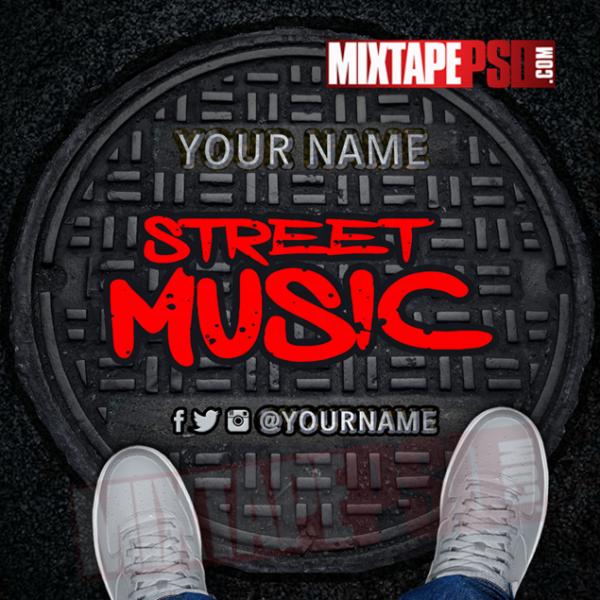 Mixtape Cover Template Street Music 2