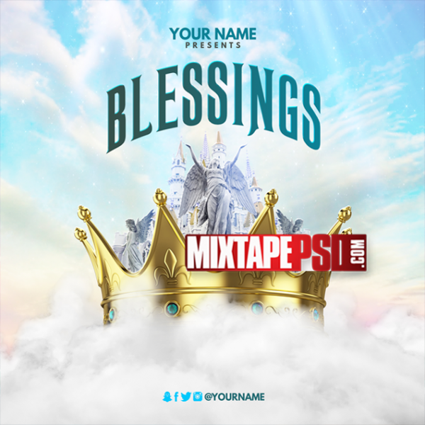 Mixtape Template Blessings 3, Album Covers, Graphic Design, Graphic Designer, How to Make a Mixtape Cover, Mixtape, Mixtape cover Maker, Mixtape Cover Templates, Mixtape Covers, Mixtape Designer, Mixtape Designs, Mixtape PSD, Mixtape Templates, Mixtapepsd, Mixtapes, Premade Mixtape Covers, Premade Single Covers, PSD Mixtape, Custom Mixtape Covers