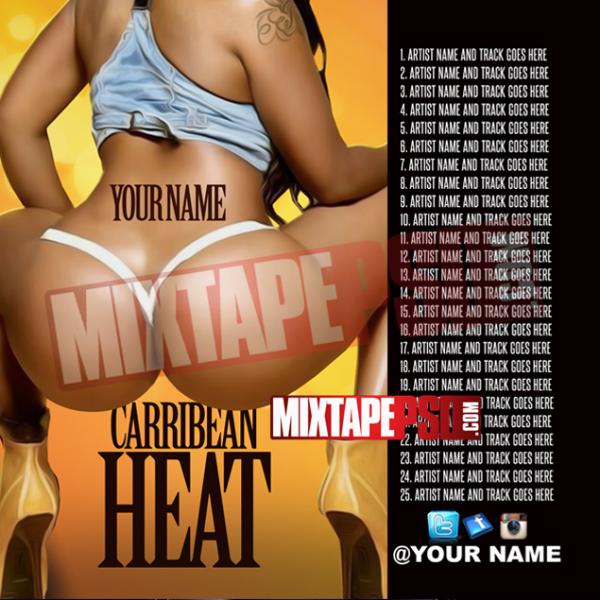 Mixtape Template Caribbean Heat 4 w Tracklist