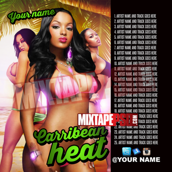 Mixtape Template Caribbean Heat 6 w Track List