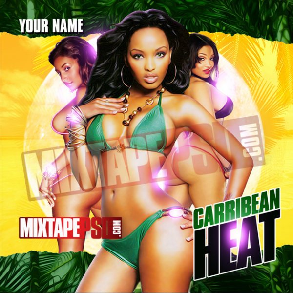 Mixtape Cover Template Caribbean Heat 7