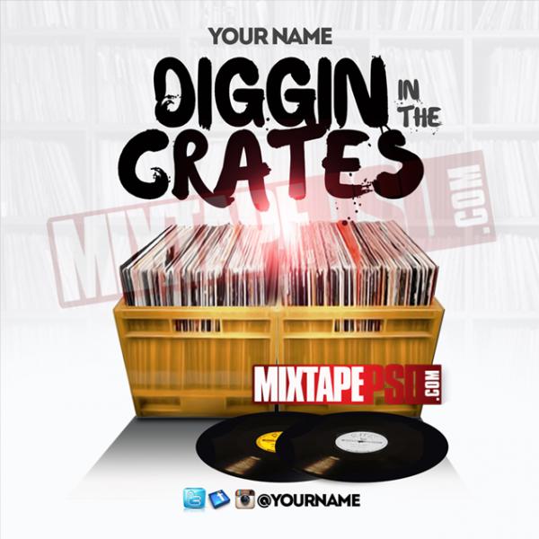 Mixtape Cover Template Digging in the Crates, Album Covers, Graphic Design, Graphic Designer, How to Make a Mixtape Cover, Mixtape, Mixtape cover Maker, Mixtape Cover Templates, Mixtape Covers, Mixtape Designer, Mixtape Designs, Mixtape PSD, Mixtape Templates, Mixtapepsd, Mixtapes, Premade Mixtape Covers, Premade Single Covers, PSD Mixtape, Custom Mixtape