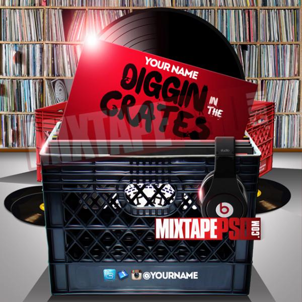 Mixtape Cover Template Digging in the Crates 2, Album Covers, Graphic Design, Graphic Designer, How to Make a Mixtape Cover, Mixtape, Mixtape cover Maker, Mixtape Cover Templates, Mixtape Covers, Mixtape Designer, Mixtape Designs, Mixtape PSD, Mixtape Templates, Mixtapepsd, Mixtapes, Premade Mixtape Covers, Premade Single Covers, PSD Mixtape, Custom Mixtape