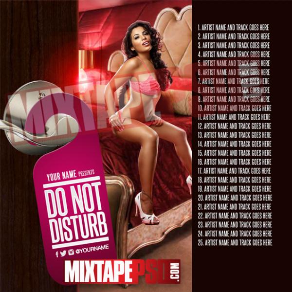 Mixtape Cover Template Do Not Disturb RNB w Track Listing