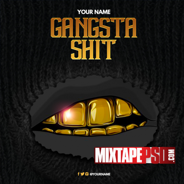 Mixtape Template Gangsta Shit