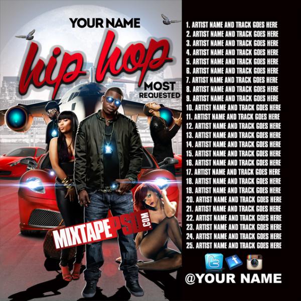 Mixtape Template Hip Hop Requested 5 w Tracklist, Album Covers, Graphic Design, Graphic Designer, How to Make a Mixtape Cover, Mixtape, Mixtape cover Maker, Mixtape Cover Templates, Mixtape Covers, Mixtape Designer, Mixtape Designs, Mixtape PSD, Mixtape Templates, Mixtapepsd, Mixtapes, Premade Mixtape Covers, Premade Single Covers, PSD Mixtape, Custom Mixtape
