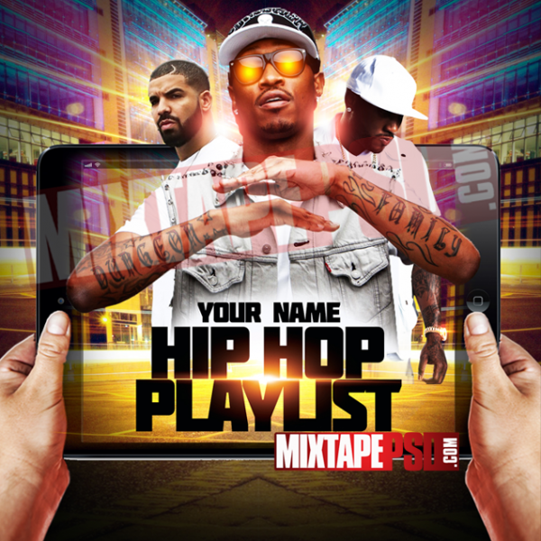 Mixtape Cover Template Hip Hop Playlist 2