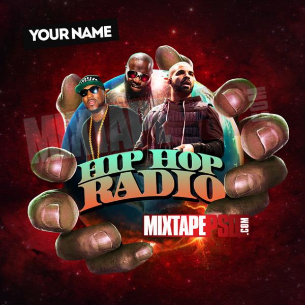 Mixtape Cover Template Hip Hop Radio 17