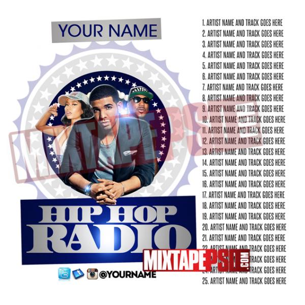 Mixtape Cover Template Hip Hop Radio 19 w Track Listing