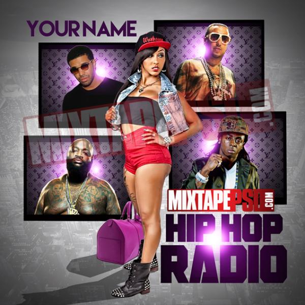 Mixtape Cover Template Hip Hop Radio 20