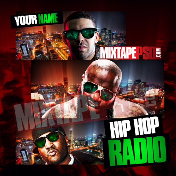 Mixtape Cover Template Hip Hop Radio 21