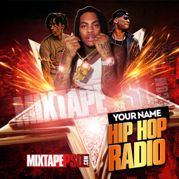 Mixtape Cover Template Hip Hop Radio 25