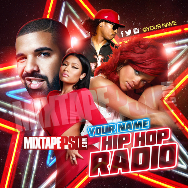 Mixtape Cover Template Hip Hop Radio 49, Album Covers, Graphic Design, Graphic Designer, How to Make a Mixtape Cover, Mixtape, Mixtape cover Maker, Mixtape Cover Templates, Mixtape Covers, Mixtape Designer, Mixtape Designs, Mixtape PSD, Mixtape Templates, Mixtapepsd, Mixtapes, Premade Mixtape Covers, Premade Single Covers, PSD Mixtape, Custom Mixtape Covers
