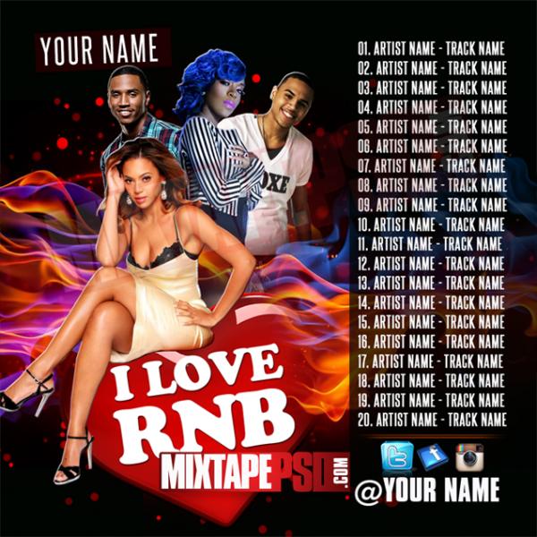 Mixtape Template I Love RNB 3 w Track list, Album Covers, Graphic Design, Graphic Designer, How to Make a Mixtape Cover, Mixtape, Mixtape cover Maker, Mixtape Cover Templates, Mixtape Covers, Mixtape Designer, Mixtape Designs, Mixtape PSD, Mixtape Templates, Mixtapepsd, Mixtapes, Premade Mixtape Covers, Premade Single Covers, PSD Mixtape, Custom Mixtape