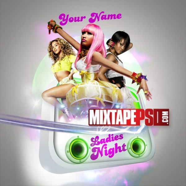 Free Mixtape Cover PSD Template Ladies Night